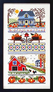 cover of Bobbie G Designs - Mrs. Smith Pumpkin Farm cross stitch chart MAIN
