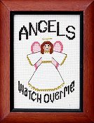 cover of Bobbie G Designs - Angels Watch Over Me cross stitch chart_THUMBNAIL