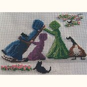 photo of Lynn's Prints/Diane Graebner - Rocking Grandma Cross Stitch pattern_THUMBNAIL