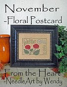 From The Heart - Floral Postcard - November