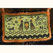 Homespun Elegance - Country Spirits Collection - Witches Teaching Stitching THUMBNAIL