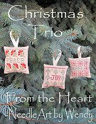 cover of From The Heart - Christmas Trio cross stitch pattern