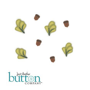 picture of four leaves and acorn buttons in Just Another Button Company Square.ology Squirrel Around Embellishment Pack MAIN
