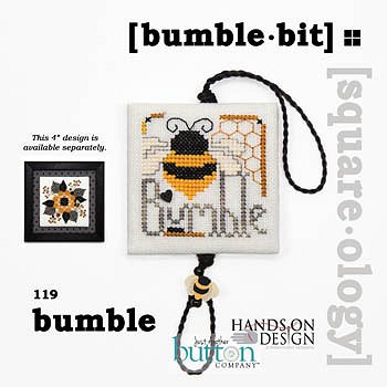 cover of Just Another Button Company - Square.ology - Bumble Bit 119 cross stitch pattern MAIN