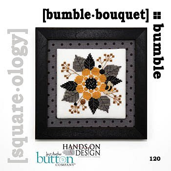 cover of Just Another Button Company - Square.ology - Bumble Bouquet 120 cross stitch pattern MAIN