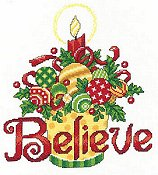 cover of Imaginating - Believe Ornaments 2941 cross stitch pattern