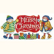cover of Imaginating - Snowman Holiday Welcome 2942 cross stitch pattern_THUMBNAIL