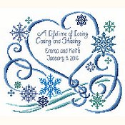 picture of Imaginating - Winter Wedding 2943 cross stitch pattern