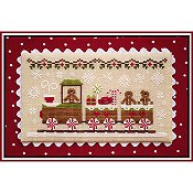 cover of Country Cottage Needleworks - Gingerbread Village #1 - Gingerbread Train Cross Stitch THUMBNAIL