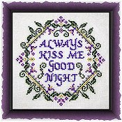 cover of Tempting Tangles Designs - Always Kiss Me Goodnight cross stitch pattern