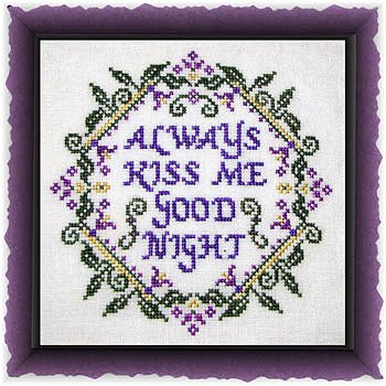 cover of Tempting Tangles Designs - Always Kiss Me Goodnight cross stitch pattern MAIN