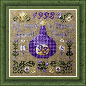 cover of Tempting Tangles Designs - A Good Year cross stitch pattern MAIN