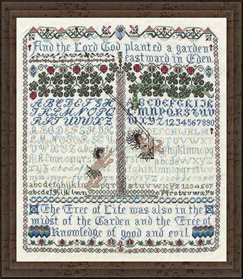 picture of Tempting Tangles Designs - Before The Fall Cross Stitch sampler MAIN