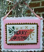 cover of Misty Hill Studio - A Mid-Century Modern Christmas Series - Merry Christmas Cross Stitch THUMBNAIL