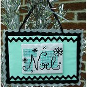 cover of Misty Hill Studio - A Mid-Century Modern Christmas Series - Noel Cross Stitch THUMBNAIL