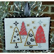 cover of Misty Hill Studio - A Mid-Century Modern Christmas Series - Tree Lot Cross Stitch pattern