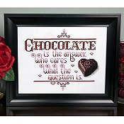 cover of Kit & Bixby - Chocolate Is The Answer cross stitch pattern
