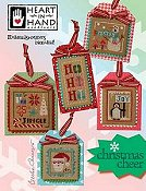 Heart In Hand Needleart - Christmas Cheer cross stitch Christmas ornaments THUMBNAIL