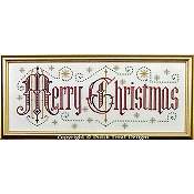 Dutch Treat Designs - Merry Christmas cross stitch pattern THUMBNAIL