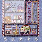picture of SamSarah Design Studio - Santa's Cabinet - Naughty or Nice? cross stitch chart 3 of 5 with embellishments