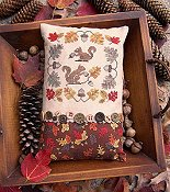 cover of Lila's Studio - Gathering Acorns Cross Stitch pattern