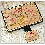 cover of Dames of the Needle - Quaker Flowers cross stitch pattern
