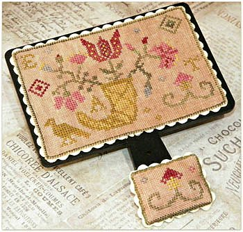 cover of Dames of the Needle - Quaker Flowers cross stitch pattern MAIN