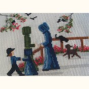 photo of Lynn's Prints/Diane Graebner - Gossip At The Gate Cross Stitch_THUMBNAIL