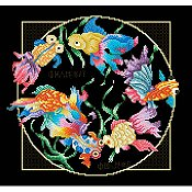 picture of Vickery Collection - Exotic Goldfish cross stitch pattern