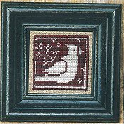 cover of Bent Creek - Winter Redbird & White cross stitch_THUMBNAIL