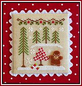 Country Cottage Needleworks - Gingerbread Village #2 - Gingerbread Girl & Peppermint Tree