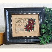 cover of From The Heart - Floral Postcard - December cross stitch pattern