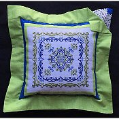 picture of Keslyn's - Just For Frills cross stitch pattern on a pillow