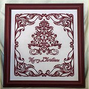 cover of Keslyn's - A Red Merry Christmas cross stitch pattern