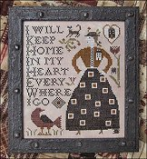 cover of Kathy Barrick - Home in My Heart cross stitch pattern THUMBNAIL