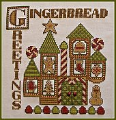 photo of Hinzeit - Charmed - Gingerbread Greetings cross stitch THUMBNAIL