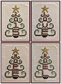 picture of Hinzeit - Beaded - Tree Ornaments cross stitch