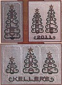 picture of Hinzeit - Beaded - Personalized Tree cross stitch