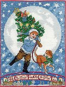 cover of X's & Oh's - O Christmas Tree cross stitch chart THUMBNAIL