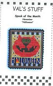 cover of Val's Stuff - Spook of the Month - November - Halloween cross stitch