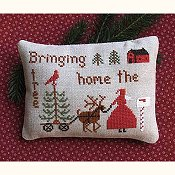 Primitive Needleworks - Bringing Home the Tree