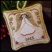 Little House Needleworks - The Sampler Tree Ornament Series - #12 Christmas Angel