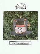 Poppy Kreations - Mr. Snowman Ornament THUMBNAIL