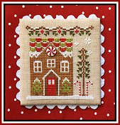 Country Cottage Needleworks - Gingerbread Village #3 - Gingerbread House 1 THUMBNAIL