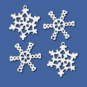 Mill Hill Metal Treasures Snowflake 15001 - 4/pkg THUMBNAIL