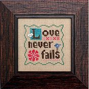 Heart In Hand Needleart - Wee One - Love Never Fails THUMBNAIL