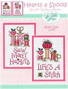 Sue Hillis Designs - Hearts & Spools - From The Spoolies Collection - Book One