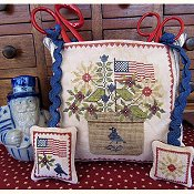 The Scarlett House - Patriotic Scissor Pocket THUMBNAIL
