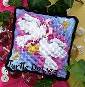 Bobbie G Designs - 2 Turtle Doves Pincushion
