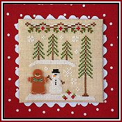 Country Cottage Needleworks - Gingerbread Village #7 - Gingerbread Boy & Snowman THUMBNAIL